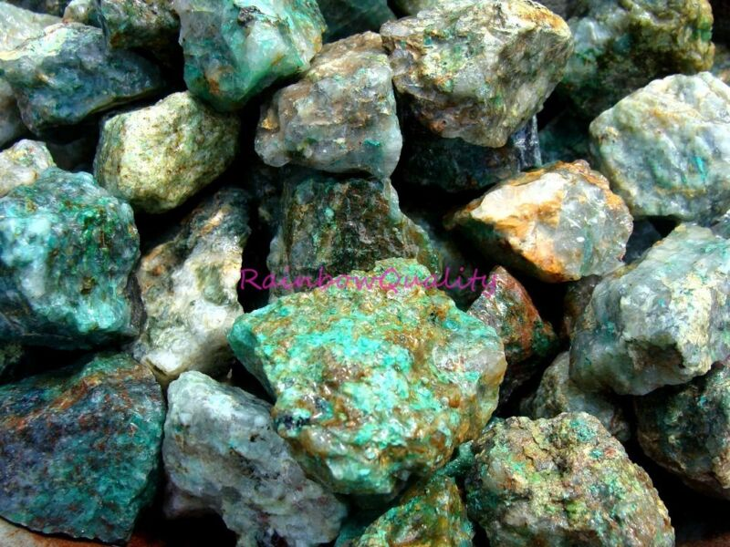 Natural CHRYSOCOLLA Rough Rocks - 1 LB Lots, Great Material with Good Color Gems