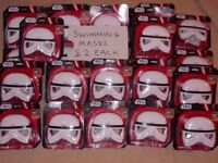 SWIMMING MASKS STORM TROOPER AND SPIDERMAN £2 EACH