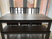 Ikea Dining table, bench and 3 chairs