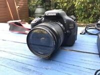Canon 600D SLR, extra battery & charger - LIKE NEW