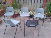 5 plastic chairs for sale