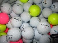 golf balls in really good condition . pick your own mega