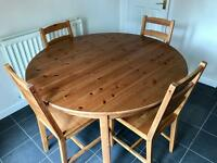 Ikea extendable table and chairs. Dinning table