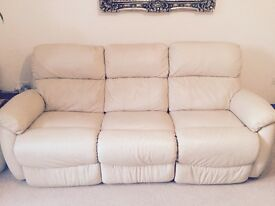 D.F.S immaculate 3 seater reclining sofa with 2 immaculate lazy boy armchairs