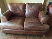 Italian leather 3 and 2 seater sofa