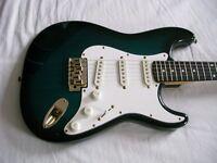 Hohner ST 59 electric guitar - Korean - 90's - Blueburst - ATN circuit - Fender Stratocaster homage
