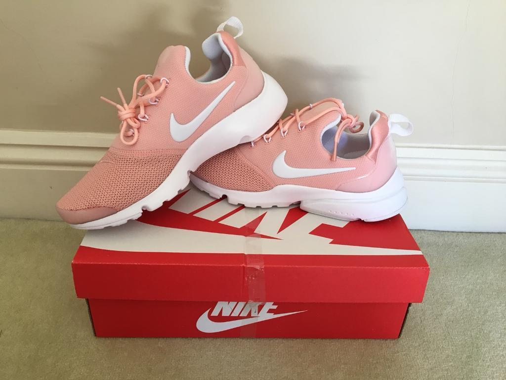 """abab532fe0f0 Brand new Nike Air Presto Fly Woven """"pink"""" ladies trainers."""