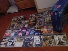 PS3 and a huge variety of games all in perfect conditon .