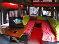 Camper/Day van,Free view tv/DVD/CD, Refrigerated coolbox, 12/240 volt hook up