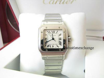 CARTIER SANTOS GALBEE W20060D6 LARGE STEEL CARTIER BOX ,CD & BOOKLET