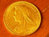 Full gold Sovereign Victoria 1898 graduated VF