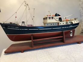 Trawler boat made from model boat kit (Kit alone was £400)