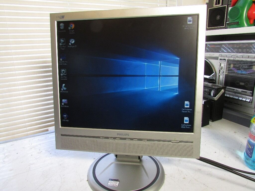 """17"""" Monitor TFT LCD PHILIPS 170B5 VGA DVI TCO03 monitor with Speakerin Erdington, West MidlandsGumtree - 17"""" TFT LCD PHILIPS 170B5 VGA DVI TCO03 Monitor with Speaker FULL WORKING ORDER 17"""" LCD MONITOR WITH BUILT IN SPEAKERS MONITOR LISTED IS USED COLLECTION ONLY"""