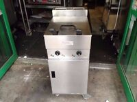 CATERING COMMERCIAL VALENTINE TWIN TANK FRYER KITCHEN RESTAURANT FAST FOOD TAKE AWAY FRIED CHIPS BAR
