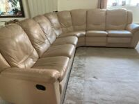 Large Leather Italian sofa