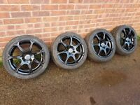 "15"" 4x100 Wolfrace alloy wheels"
