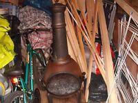 Patio Heater (used very little) Uses wood.
