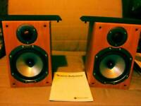 Quality pair of monitor audio br1 compact speakers