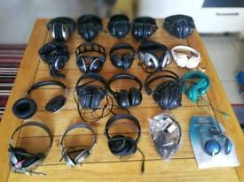 job lot of untested headphones vintage and modern