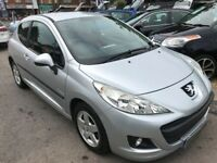 2010/10 PEUGEOT 207 1.4 VERVE 3 DOOR,SILVER,LOW MILEAGE,STUNNING CONDITION,LOOKS AND DRIVES WELL