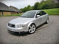 2002 AUDI A4...2.0 PETROL...FSH...INVOICES FOR OVER 3000 POUNDS...LONG MOT...VGC