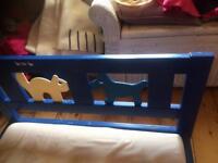 Ikea wooden kids bed frame and mattress
