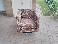 FREE: Swivel Brown Armchair - from a pet free home