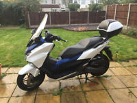 Honda Forza 125cc Scooter with accessories