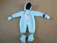 Snow suit/all in one/padded suit for 3-6 month old baby