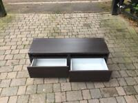 Brown IKEA tv stand