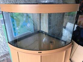 juwel trigon 190 corner aquarium with cabinet and filter.