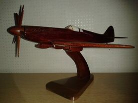 Model Spitfire from the Wooden Model Company