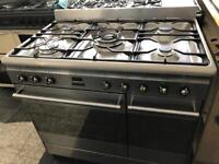 Smeg profesional range gas cooker stainless steel 90mm