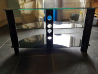 "Black glass tv stand for upto 42"" TV"