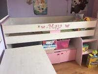 Girl bedroom furniture (bed,desk,storage)