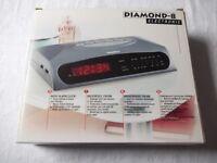 Diamond-8 Radio Alarm Clock - New