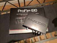 M-Audio Profire 610 - Firewire Audio / Midi interface 24-bit/192kHz 6in 10 out IEEE 1394