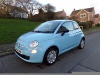 Fiat 500 1.2 Pop,Velare blue/sealskin int,1 Lady owner,FDSH Vospers,2010 Reg,Service Mot Dec 17 Mint