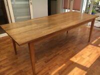 Oak table dining sits 8 or craft table