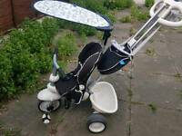 Little Yikes Toddlers pushchair bike ride tricycle with handle