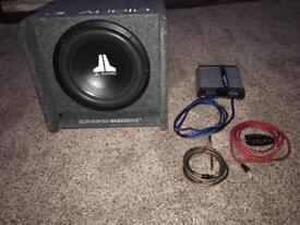JL Audio subwoofer and amp