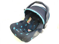 Graco Junior 2 in 1 Baby Group 0+ Sport Luxe Blue Car Seat & Baby Carrier