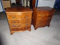 Antique Style Yew Wood Chest Of Drawers ,Good Condition,Can Deliver