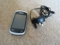 Excellent Condition - White Samsung Galaxy Music Mobile Phone with Charger