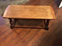 Vintage Old Charm Oak Coffee Table