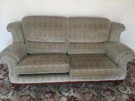 Sofa armchairs and footstool