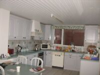 Complete kitchen-Cabinets, worktops, integrated fridge & freezer, ceramic hob