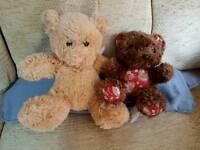 2 teddy bears