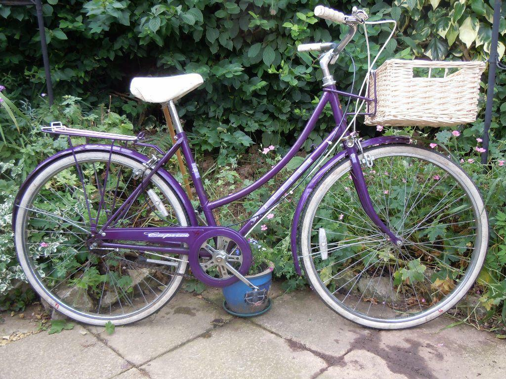 Ladies Vintage Raleigh Caprice Dutch Style Bike Purple