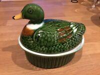 Cute duck ceramic pot